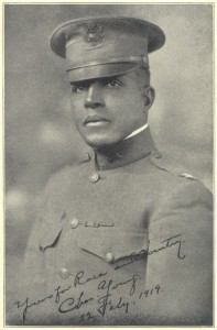 """Yours for Race and Country, Charles Young. 22 Fey., 1919"" From the Library of Congress via NPS.gov"